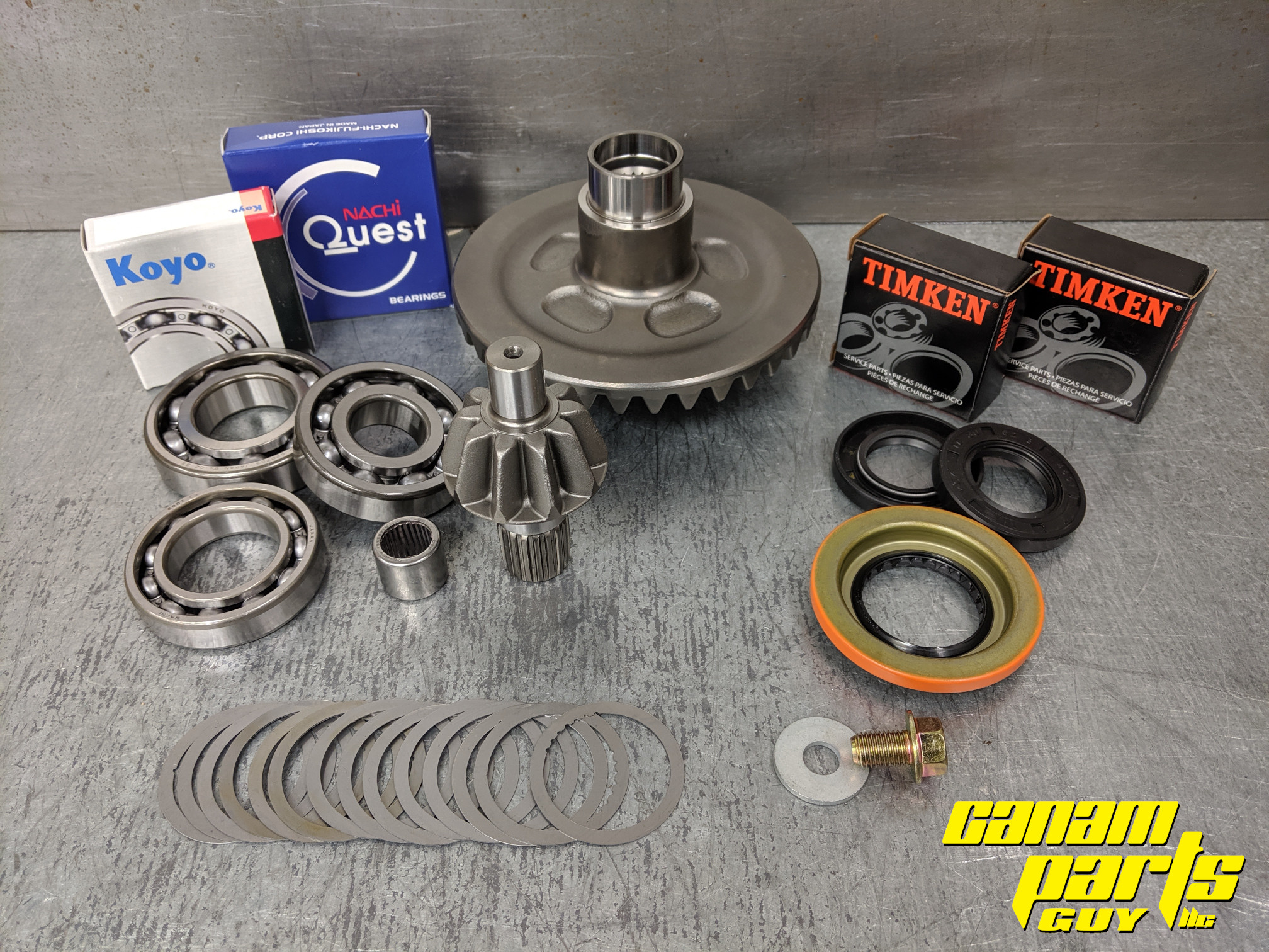 Can-Am Outlander Renegade 400 500 650 800 REAR Differential Bearing and Seal Kit